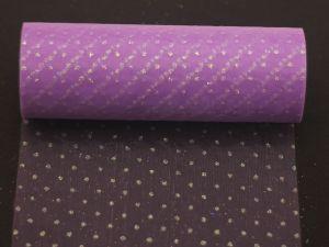 Фатин с люрексом, средняя жесткость, ширина 15 см, бобина 10 ярдов, цвет: Q17 сиреневый
