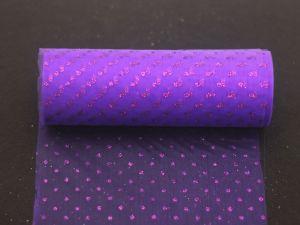 Фатин с люрексом, средняя жесткость, ширина 15 см, бобина 10 ярдов, цвет: Q18