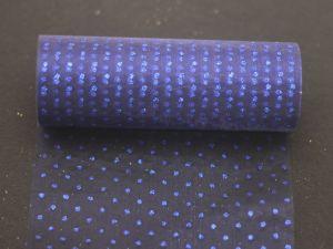Фатин с люрексом, средняя жесткость, ширина 15 см, бобина 10 ярдов, цвет: Q25