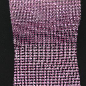 "`Лента декоративная ""имитация страз"", ширина 12 см, цвет: светло-розовый"