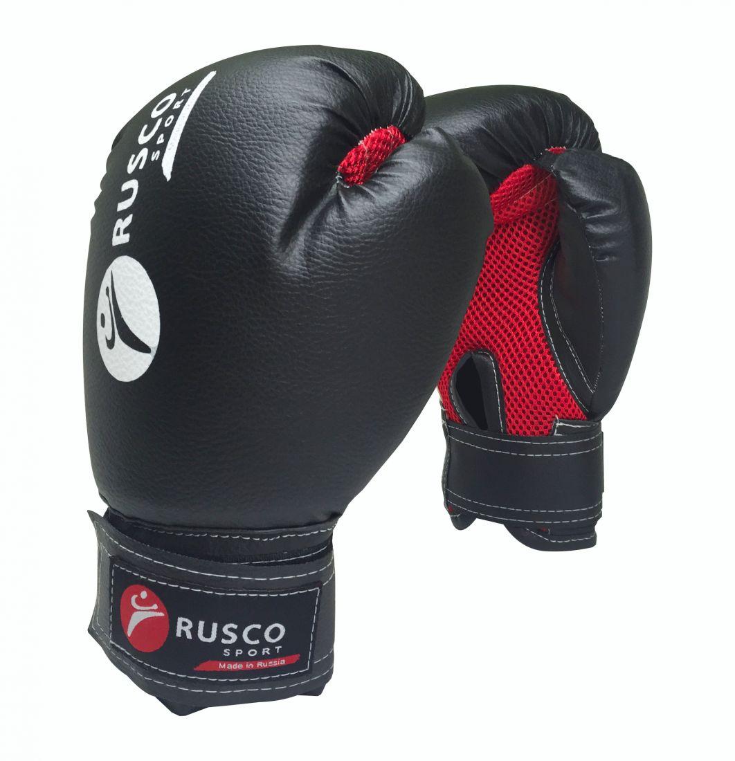 Перчатки боксерские RUSCO SPORT черные