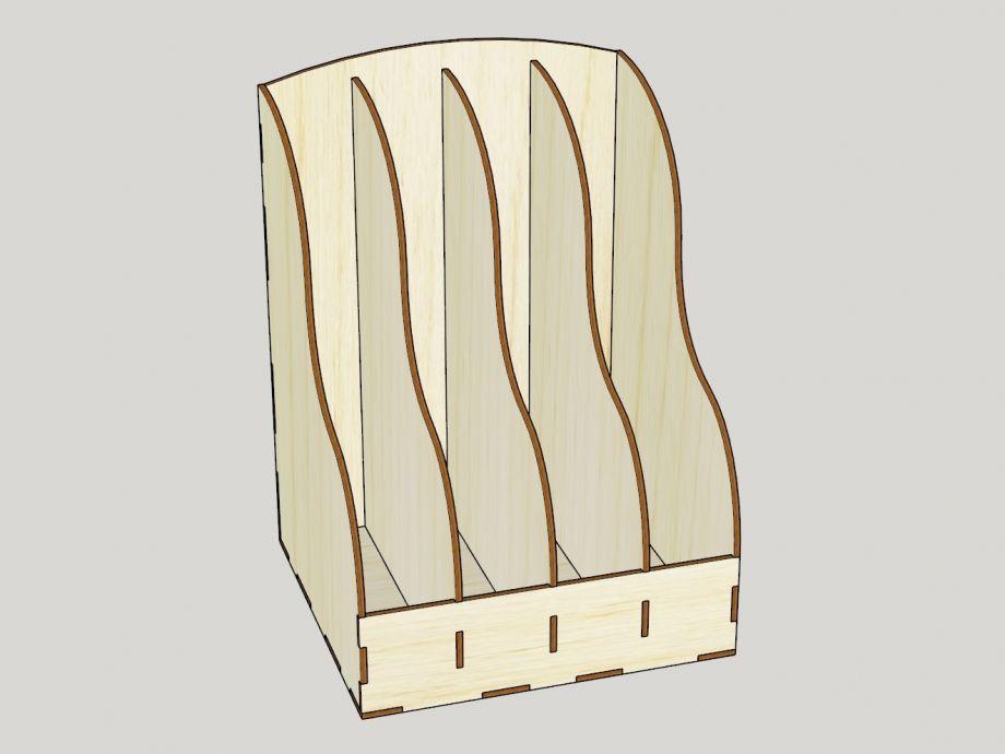 Органайзер из дерева (фанеры) для бумаги вертикальный