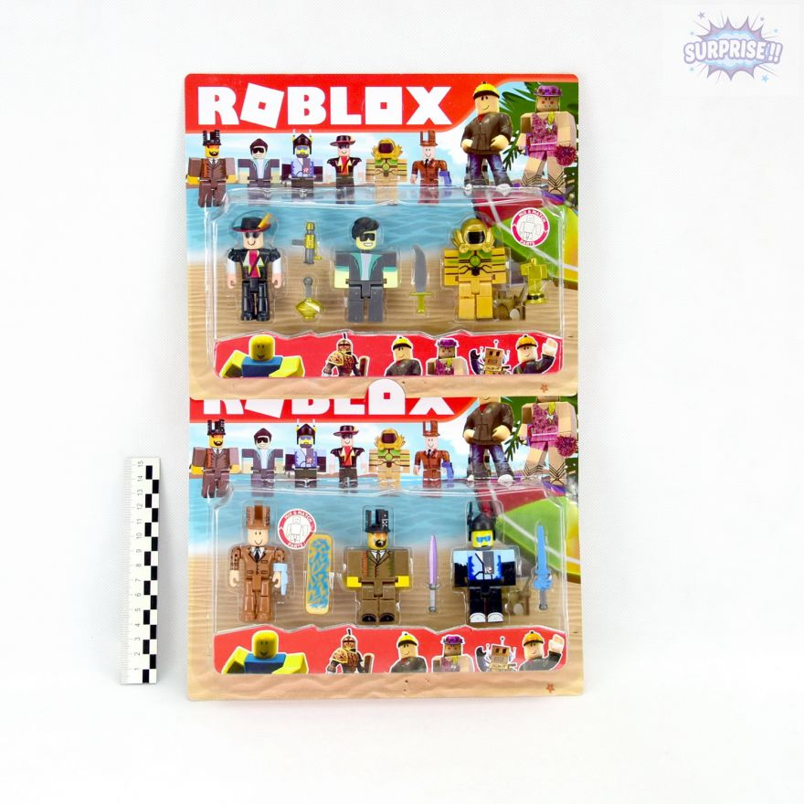 Roblox набор 3 фигурки героев с аксессуарами 7,5см (№R03232D)