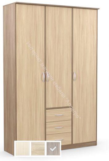 """Шкаф """"Дуэт Люкс"""" комбинированный без зеркала с 3-мя ящиками"""