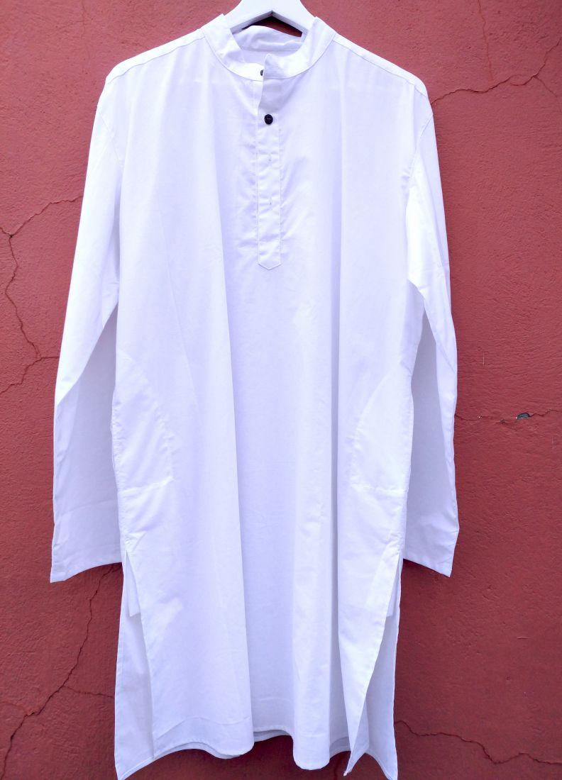 Мужская курта белого цвета, пошив на заказ (отправка из Индии)