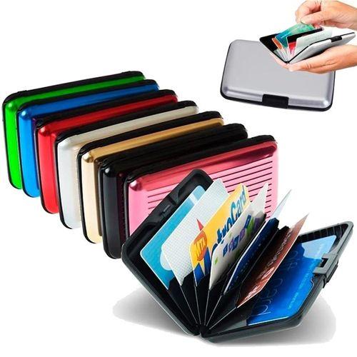 Бокс для кредитных карт Alluma Wallet (Security Credit Card Wallet): цвет – синий.