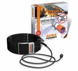 Комплект для защиты водосточных труб и желобов от замерзания 20 метров. AURA FS 30-20