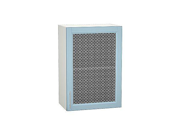 Шкаф верхний Сканди В500 со стеклом Sky Wood