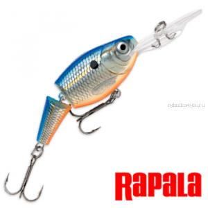 Воблер RapaIa Jointed Shad Rap JSR05 50 мм / 8 гр / Заглубление: 1,8 - 3,9 м / цвет: BSD