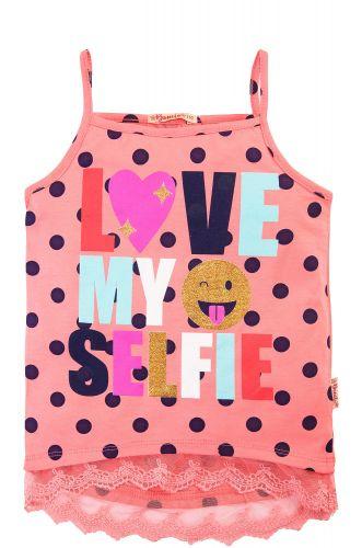 Маечка в горошек для девочек 3-7 лет BONITO розовая