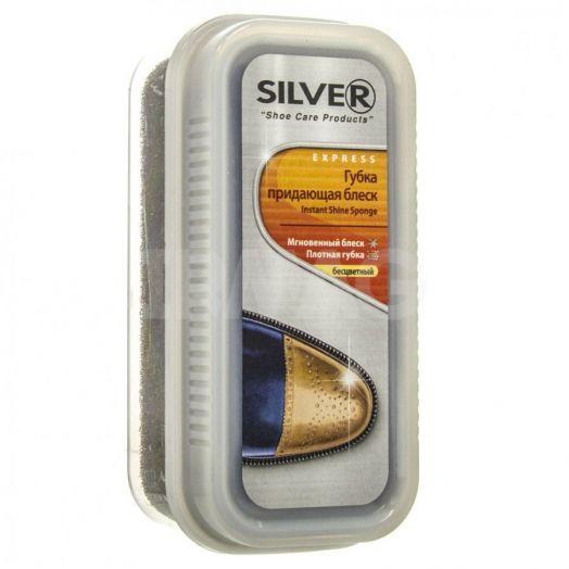 Губка д/обуви Silver придающая блеск широкая натурал. 21771