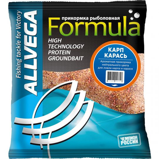 "Прикормка ALLVEGA ""Formula Carp Carassin"" 0,5 кг (КАРП, КАРАСЬ)"