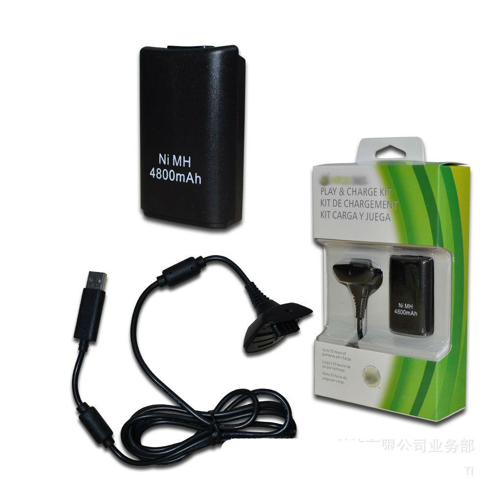 Аккумулятор с зарядкой для XBOX 360 2 В 1 ЧЁРНЫЙ