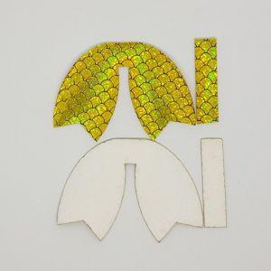 `Вырубка ''Хвост Бант-14, набор - 2 комплекта'', размер: 100*70 мм, иск.кожа(PU) 0,7 мм, JD2013-5