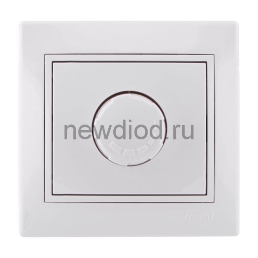 MIRA Диммер 800Вт белый с белой вставкой Lezard