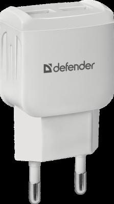 Сетевой адаптер EPA-13 белый, 2xUSB, 5V/2.1А, пакет