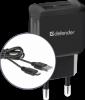 Сетевой адаптер UPC-21 2xUSB,5V/2.1А кабель microUSB
