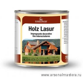 Пропитка антисептическая Holz Lasur  750 мл цв. 101 серый  Borma RNAT3611-7
