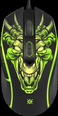 Проводная игровая мышь Monstro GM-510L оптика,6кнопок,3200dpi
