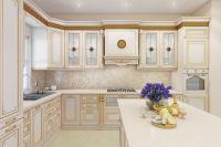 Кухня Лукреция Слоновая Кость с островом