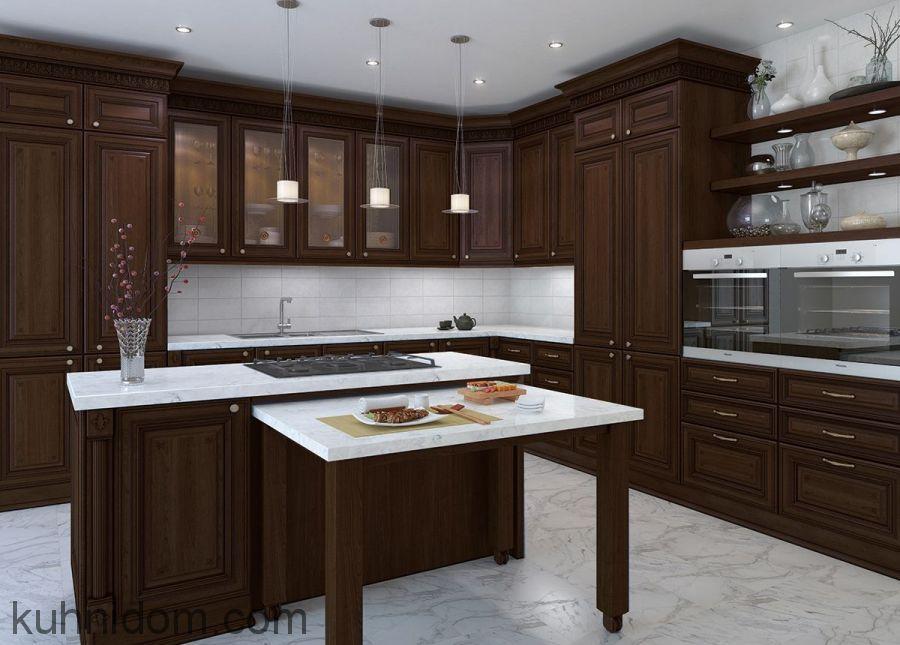 Кухня Лукреция Орех с островом