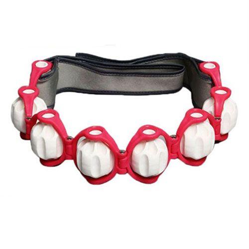 Роликовый ручной массажер-лента Massage Rope HX-8866 - красный.