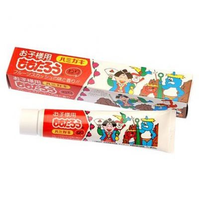 """""""Fudo Kagaku"""" """"Момотаро"""" Зубная паста для защиты от кариеса и зубного камня отбеливающая с ароматом фруктов 80г"""
