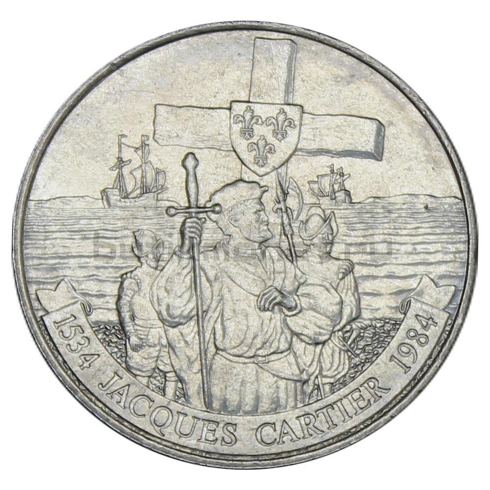 1 доллар 1984 Канада 450 лет с момента открытия Гаспе