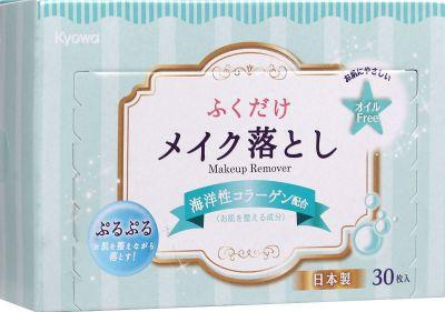 Салфетки влажные для снятия макияжа Kyowa shiko с морским коллагеном Kyowa, 30 шт