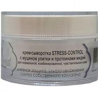 Крем-сыворотка STRESS-CONTROL с муцином улитки и протеинами мидий. Дневная защита каскадного действия.