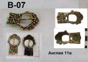 Пряжка B-07. Англия 11 век.