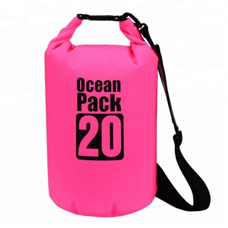 Водонепроницаемая Сумка-Мешок Ocean Pack, 20 L, Цвет Розовый