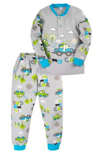 Пижама для мальчика 2-5 лет Bonito BK3003PJ серая, машинки