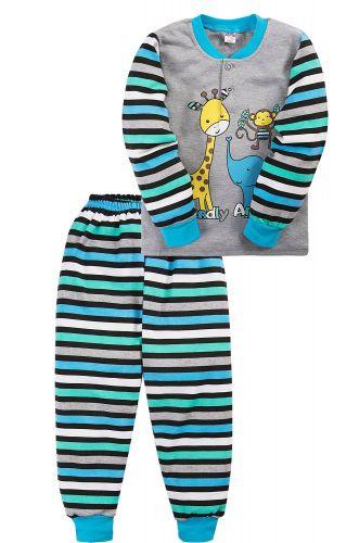 Пижама для мальчика 2-5 лет Bonito BK3003PJ серая, animals