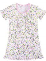 Сорочка для девочек 7-11 лет Bonito BK1219P белая, розовая