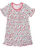 Сорочка для девочек 2-6 лет Bonito BK1253P белая, красная