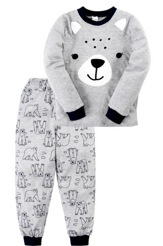 Пижама для мальчика 3-7 лет Bonito BK977PJ серая, мишка