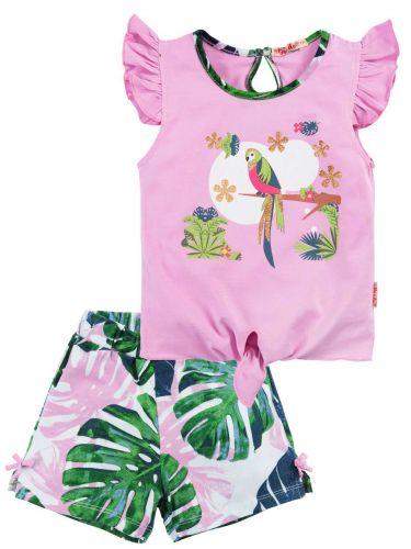 Костюм для девочек 2-5 лет Bonito BK1185F розовый, зеленый