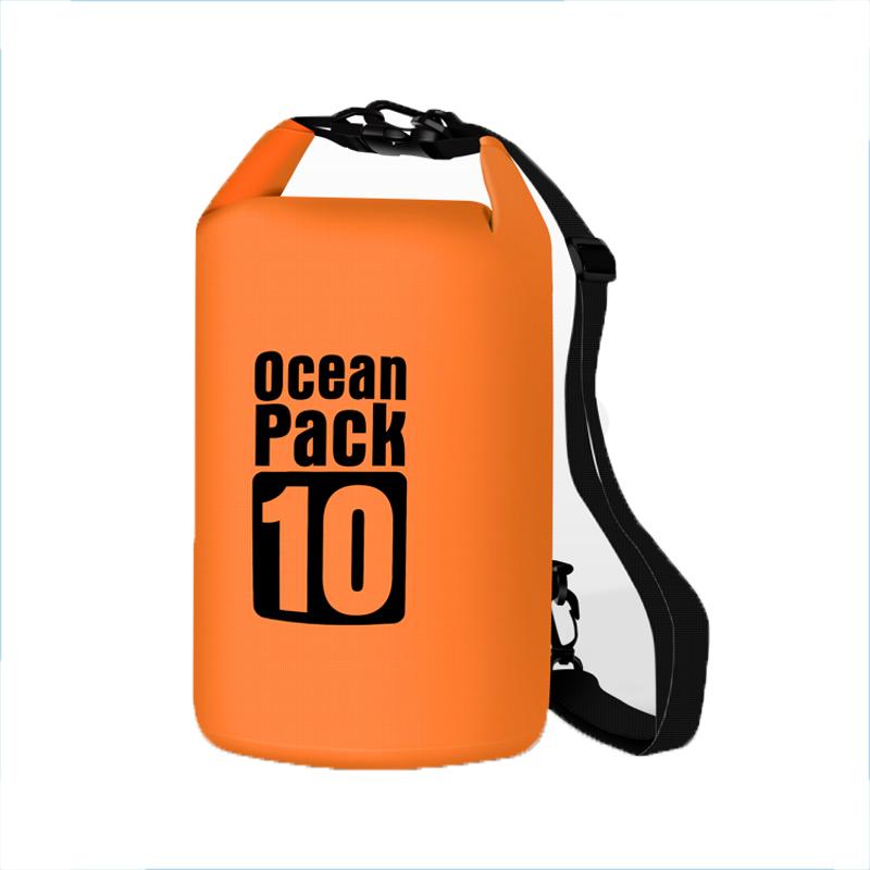 Водонепроницаемая сумка-мешок Ocean Pack, 10 L, цвет оранжевый