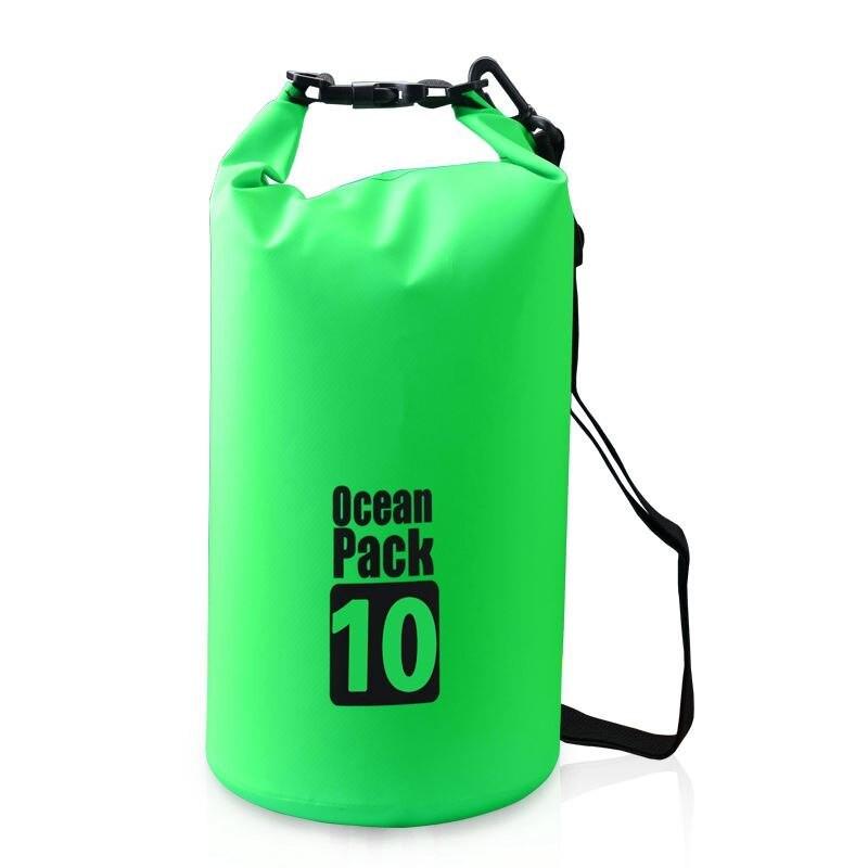 Водонепроницаемая сумка-мешок Ocean Pack, 10 L, цвет зеленый