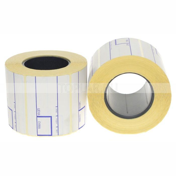 Термоэтикетки с принтом 58*60 мм
