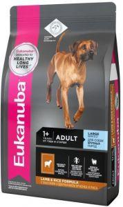 EUK Dog корм для взрослых собак крупных пород ягненок