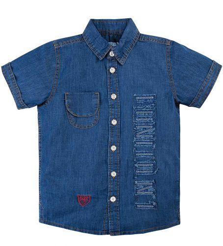 Джинсовая рубашка для мальчика 7-11 лет Bonito BK637DJ синий
