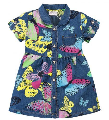 Джинсовое платье на девочки 2-6 лет Bonito BK638DJ синий