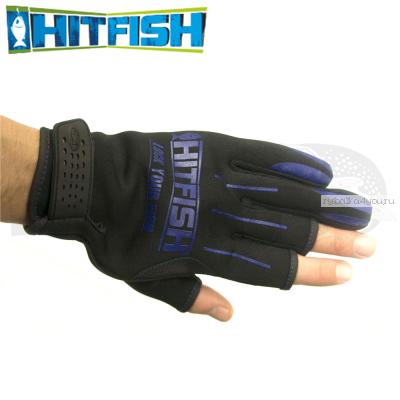 Перчатки рыболовные Hitfish Glove 04 #L (синий)