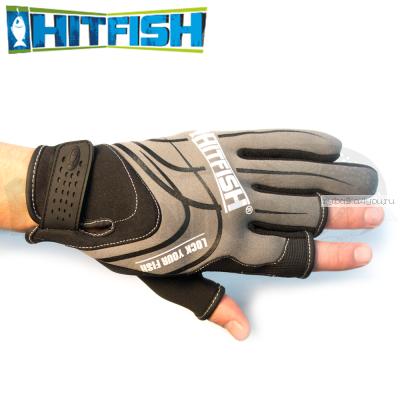 Перчатки рыболовные Hitfish Glove 05 #L (серый)