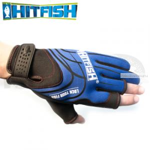 Перчатки рыболовные Hitfish Glove 05 #L (синий)