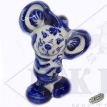 Гжель Символ Года 2020 ОПТОМ - Мышка Микки 8,5х6х4см