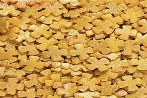 Посыпка Крестики золотые перламутровые 50 гр.