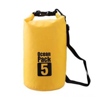 Водонепроницаемая сумка-мешок Ocean Pack, 5 L, Цвет: Желтый